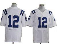 Men Short Nylon Football Jerseys 12 White All team Player Elite Jerseys American Jersey Mix Order