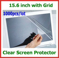 Wholesale 1000pcs Clear LCD Screen Protector Protective Film inch with Grid Size x195mm No Retail Packaging for PC Notebook