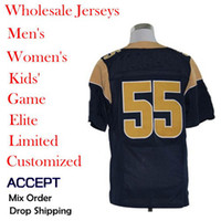 Wholesale American football Jerseys James Laurinaitis Blue Elite Jerseys Size Allow mix order Hot selling Discount