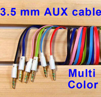 Wholesale 3 mm Male to Male AUX Stereo Audio Vidio Vedio Cable for FM MP3 Speaker iPod iPhone s G S C samsung galaxy S3 S4 NOTE NEW