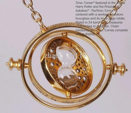 Wholesale Hot sale Wizarding world of Harry Potter Hermione Rotating Time Turner k Gold Plated Necklace