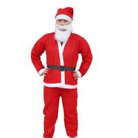 Wholesale High Quality Plush Adult Christmas Costume set in a set suit santa claus clothes WY83 p