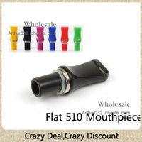 Wholesale Colorful Flat Head Drip Tip Tips Mouthpiece for eGo CE4 CE4 CE4S CE5S T2 CE5 CE5 CE6 CE6 Clearomizer Atomizer Plastic E Cigarette