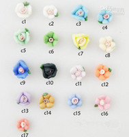 Nail Art 3D Decoration ceramic flowers - Nail Jewelry Handmade Three dimensional Flowers Fresh Series of Ceramic Flower mm m