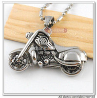 Wholesale 316L Stainless Steel Motorcycle Skull Pendant Necklace Biker Mens Fashion Jewelry PUNK amp WP003