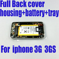 3gs 16gb - For iphone G GS back Cover housing with Front Bezel Frame and Battery sim tray full set Assembly GB GB GB
