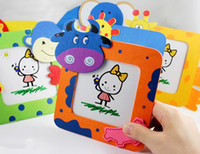 Wholesale Wooden cartoon animal photo frame Student prizes Creative home style cm g