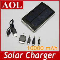 For Cell Phone Monocrystalline Yes Portable 10000 mAH Solar Battery Panel external Charger Dual Charging Ports for Laptop Cellphone Power Bank
