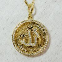 Wholesale 18k Gold Plated Allah Pendant Men Not chain Islamic jewelry for women Muslim arab charm jewellry gifts Eid Item
