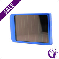 Wholesale 2600mAh Solar Panel Battery Backup Power Bank USB Solar Battery Charger for iPhone iPad iPod Samsung Galaxy S4 S3 Note HTC One DV PDA