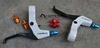 Wholesale NEW RADIUS BIKE BICYCLE BRAKE CRANK ALUMINUM LEVERS White Black Brake levers FOR MTB BIKE