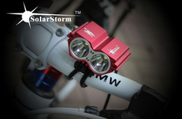 [RED Color] SolarStorm X2 Bike Light 2*CREE XM-L U2 4 Modes LED 2000LM Dual Head Bicycle light bicycle front light + FREE SHIPPING