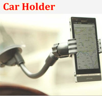 Wholesale Fashion Universal Car Holder Cell Phone Car Mount Adjustable Width Windshield Cradle for all Cell Phone X6 retail package
