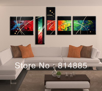 Yes Modern No Free Shipping !!! 5PCS,Real Oversized Handmade Modern Abstract Oil Painting On Canvas Wall Art ,Top Home Decoration JYJHS031
