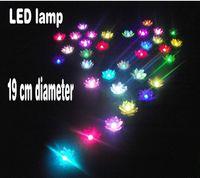 Wholesale 19cm Diameter LED Lotus lamp in Colorful Changed floating water Wishing Light Water Lanterns