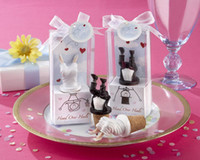 Wholesale Head Over Heels Bride or Groom Bottle Stoppers of Wedding Favors Wedding Gifts Party Favors wedding giveaway accessories
