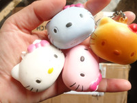 Wholesale Promotion cm Kawaii Squishies Hello Cat Mobile Phone Chain Rare Squishy