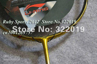 Wholesale N80 gold Lining badminton rackets New N80 gold color badminton rackets