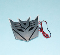 Wholesale LED Decoration Light Transformers Decepticon D Emblem Badge Decal Car Sticker