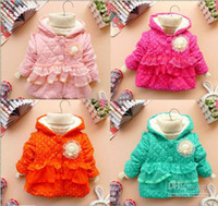berber clothes - baby girls winter berber Fleece lace princess clothing girls long sleeve hoodies coat outwears cb