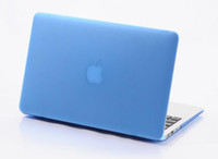 Wholesale Matte Hard Case Cover Protector Shell for Apple Macbook Air Pro with Retina inch Laptop Crystal Flip Cases Frosted DHL