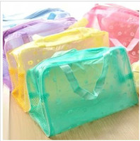 PVC Bag  Travel must-transparent waterproof cosmetic bag wash bag wash bath toiletries pouch large capacity 5 colors