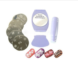 Wholesale SALON EXPRESS Nail Art Stencil Stamping Kit nail stamp polish Drop Shipping