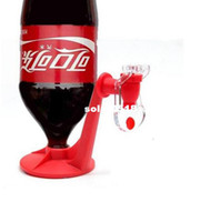 Metal ECO Friendly Bar Accessories FREE SHIPPING 1PCS Coke Upside Down Red Water coke Soda Drinking Fridge Fizz Saver Dispenser