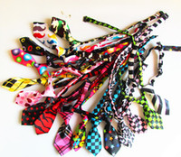 Wholesale fashion dog pet cat bow tie necktie collar different color mixed
