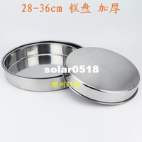 Wholesale Stainless steel plate flat niangao plate cake pan steaming plate dish large disc cm thickening plate