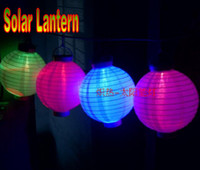 IP65 solar chinese lantern - 10 Inch Solar Lamp Chinese LED Waterproof Lantern Courtyard Light String for Christmas Wedding Decoration