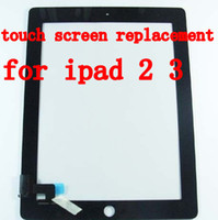 Wholesale black white Touch Screen Digitizer Replacement Part For Ipad2 Ipad2 Replacement Sreen touch for Ipad Touch Panels