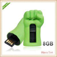 Wholesale 10pcs Hot Green Fist Design GB USB Flash Drive Green