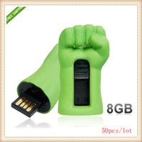 Wholesale 50pcs Hot Green Fist Design GB USB Flash Drive Green