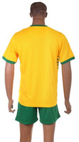 Wholesale Top Quality Away Celtic Yellow Soccer Jerseys and Shorts Football Jerseys