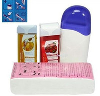 Wholesale Pro Roll On Refillable Depilatory Heater Wax Waxing Paper Hair Removal Set HN HairRemoval01 set