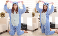 Wholesale Bran New Hot Sale Kigurumi Pajamas Animal suits Cosplay Costume Adult Garment Coral Fleece Stitch Cartoon Animal Sleep
