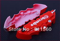 Wholesale 3D Brembo Style Universal Disc Brake Caliper Covers Front and Rear RED car trim