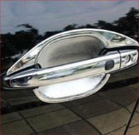 Wholesale 2013 Peugeot ABS Chrome Door Handle Bowl Door handle Protective covering Cover Trim car trim