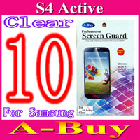 Wholesale Screen Protector Guard Film For Samsung Galaxy S4 S IV Active i9295 With Retail Package