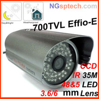 Wholesale Genuine HD H Sony CCD Effio E TVL Security CCTV weatherproof bullet Camera day and night use leds
