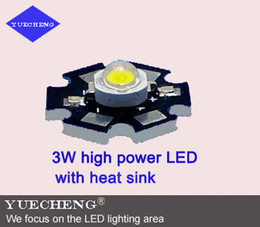 Wholesale 3W high power led lamp beads with aluminum heat sink hot sales w high power led with heating panel