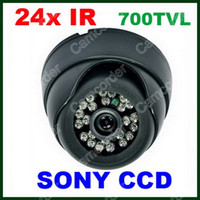 CCD Indoor 24 LED HD 700TVL 24IR LED SONY CCD Effio OSD Menu CCTV Security Indoor Dome Camera From Camcorder