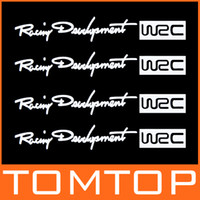 Wholesale 4Pcs Set Racing Development WRC Car Sticker Auto Door Knob Handle Decals Reflective Stickers White Drop Shipping K940