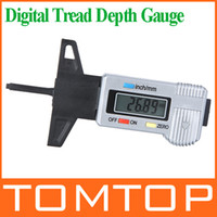 Wholesale Digital LCD Tyre Tire Tread Depth Brake Shoe Pad Gauge mm Metric inch drop shipping K943