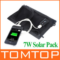 Wholesale 7W Universal Camping Solar Panel USB Charger for iPhone Samsung Smartphones Cell Phone tablet Portable Electronics Laptop Foldable PA1525