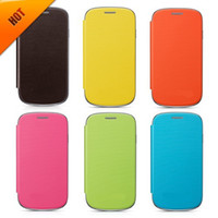 Cheap For Samsung galaxy s3 mini case Best Leather White s3 mini flip cover case