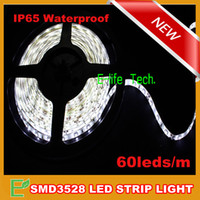 Wholesale m piece SMD3528 Flexible Waterproof Led Strip Tape Light m leds Cool White Warm White Red Green Blue Yellow