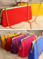 Wholesale New Silicone Chain Wallet Candy Jelly Rubber Handbag Shoulder Bag Fashion