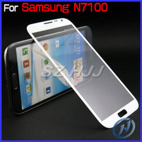 Wholesale White and Black Front Screen Outer Glass Lens For Samsung Galaxy Note II N7100 Touch Screen LCD Cover without Flex Cable